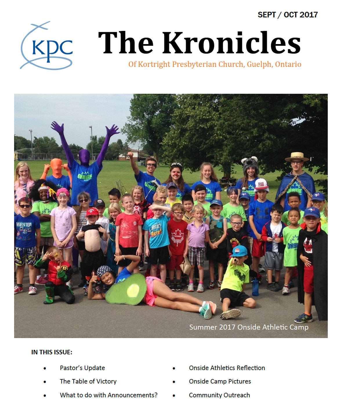 image of the front page of the Kortright Kronicles from September and October 2017