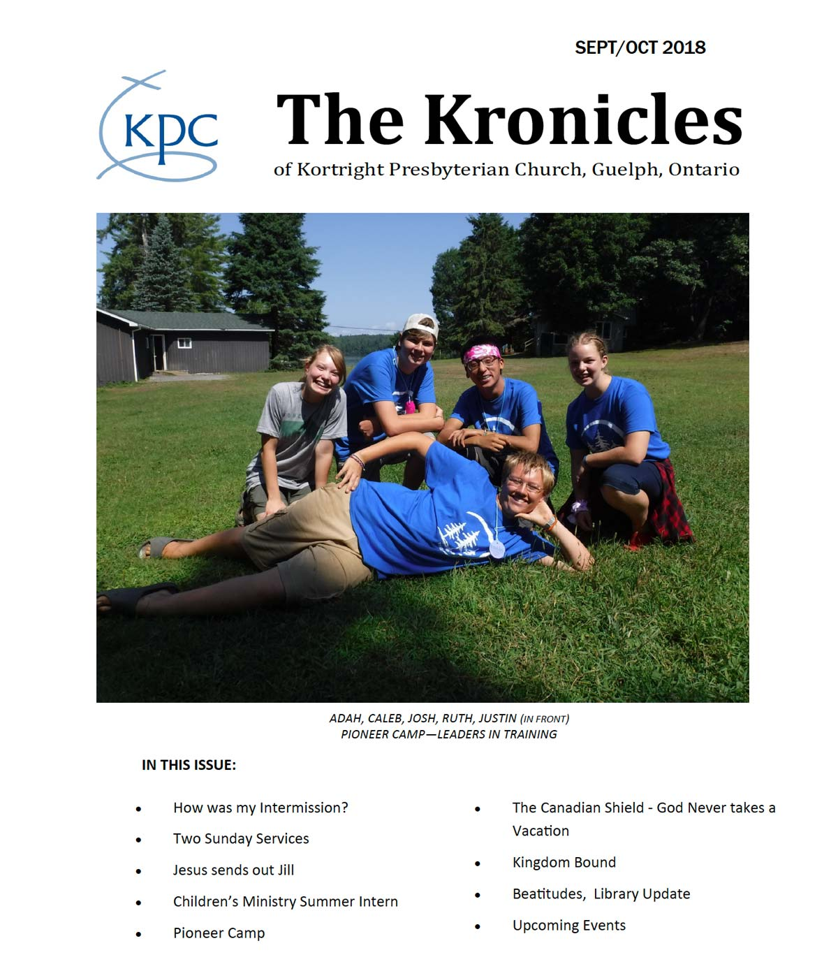 image of the front page of the Kortright Kronicles from September and October 2018