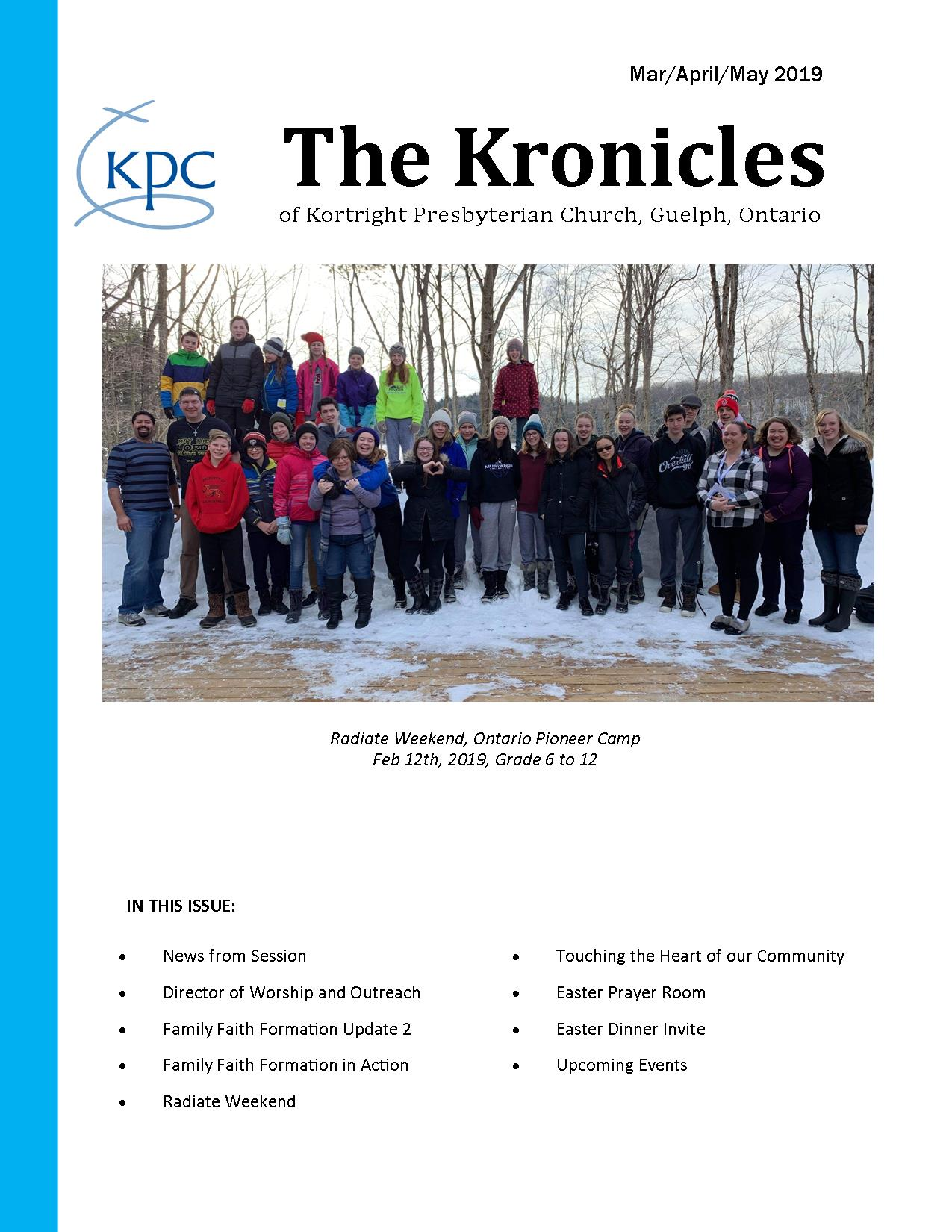 Kronicles Mar April May 2019 JEG